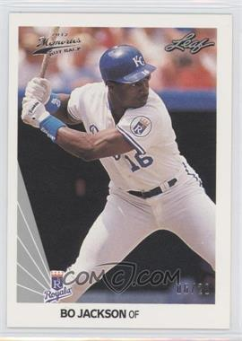 2012 Leaf Memories 1990 Leaf Buy Back Silver Foil #125 - Bo Jackson /20