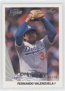 2012 Leaf Memories 1990 Leaf Buy Back Silver Foil #68 - Fernando Valenzuela /20