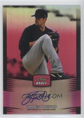 2012 Leaf Metal Draft - [Base] - Pink #BA-JP1 - James Paxton /25