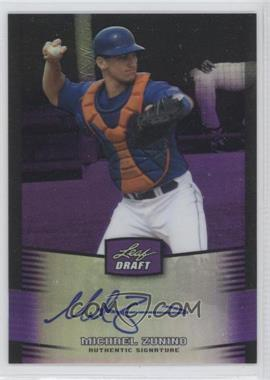 2012 Leaf Metal Draft - [Base] - Purple #BA-MZ1 - Mike Zunino /25
