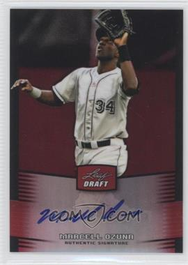 2012 Leaf Metal Draft - [Base] - Red #BA-MO2 - Marcell Ozuna /5