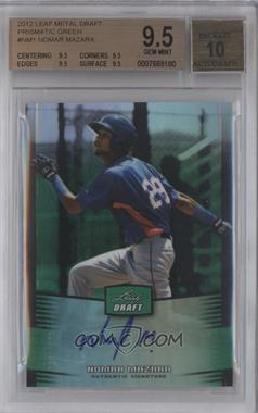 2012 Leaf Metal Draft Green #BA-NM1 - Nomar Mazara /10 [BGS 9.5]