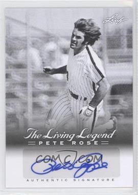 2012 Leaf Pete Rose The Living Legend - Autographs #AU-35 - Pete Rose