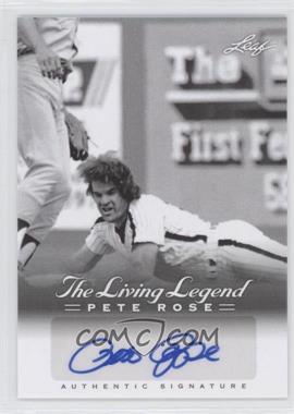 2012 Leaf Pete Rose The Living Legend - Autographs #AU-40 - Pete Rose