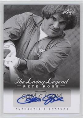 2012 Leaf Pete Rose The Living Legend - Autographs #AU-41 - Pete Rose
