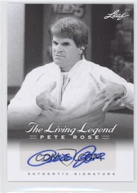 2012 Leaf Pete Rose The Living Legend - Autographs #AU-49 - Pete Rose