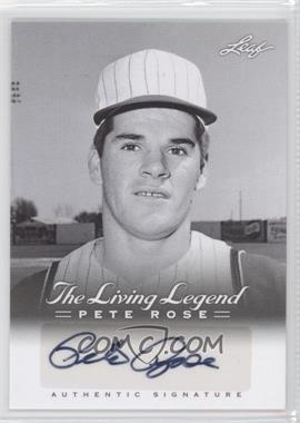 2012 Leaf Pete Rose The Living Legend Autographs #AU-1 - Pete Rose