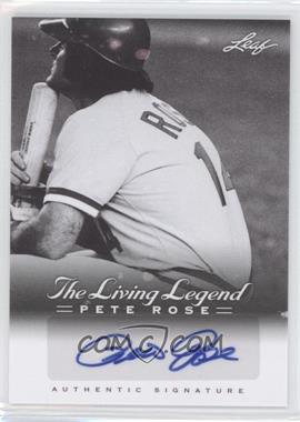2012 Leaf Pete Rose The Living Legend Autographs #AU-18 - Pete Rose