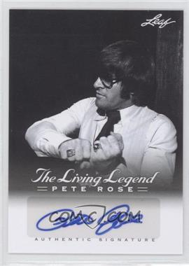 2012 Leaf Pete Rose The Living Legend Autographs #AU-22 - Pete Rose