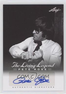 2012 Leaf Pete Rose The Living Legend Autographs #AU-22 - Pete Rose