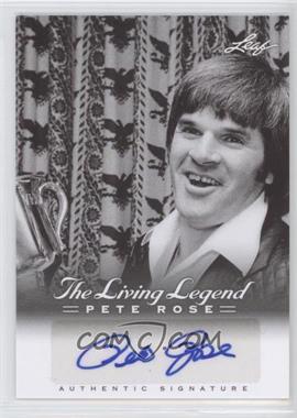 2012 Leaf Pete Rose The Living Legend Autographs #AU-33 - Pete Rose