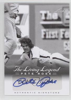 2012 Leaf Pete Rose The Living Legend Autographs #AU-40 - Pete Rose