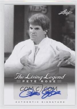 2012 Leaf Pete Rose The Living Legend Autographs #AU-49 - Pete Rose