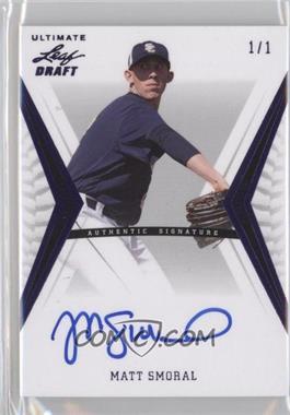 2012 Leaf Ultimate Draft - [Base] - Purple #BA-MS2 - Matt Smoral /1