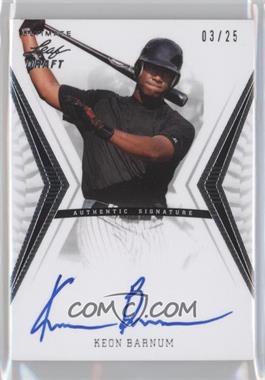 2012 Leaf Ultimate Draft - Base Autographs - Silver #BA-KB1 - Keon Barnum /25