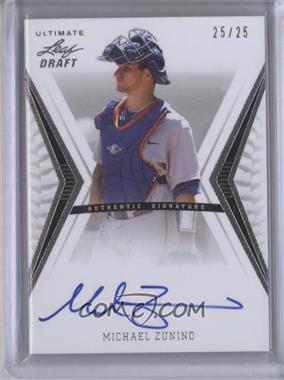 2012 Leaf Ultimate Draft - Base Autographs - Silver #BA-MZ1 - Mike Zunino /25