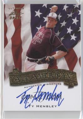 2012 Leaf Ultimate Draft [???] #AA-1 - Ty Hensley