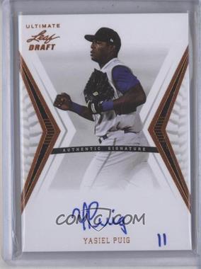 2012 Leaf Ultimate Draft [???] #BA-1 - Yasiel Puig