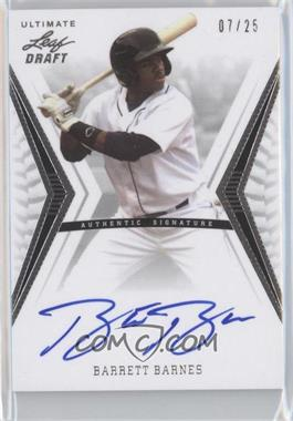 2012 Leaf Ultimate Draft [???] #BA-BB2 - Barrett Barnes /25