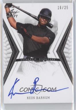 2012 Leaf Ultimate Draft [???] #BA-KB1 - Keon Barnum /25