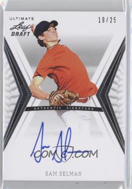 2012 Leaf Ultimate Draft [???] #BA-SS1 - Sam Selman /25