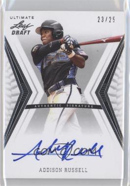 2012 Leaf Ultimate Draft Base Autographs Silver #BA-AR1 - Addison Russell /25