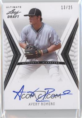 2012 Leaf Ultimate Draft Base Autographs Silver #BA-AR2 - Avery Romero /25