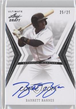 2012 Leaf Ultimate Draft Base Autographs Silver #BA-BB2 - Barrett Barnes /25