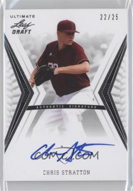 2012 Leaf Ultimate Draft Base Autographs Silver #BA-CS2 - Chris Stratton /25