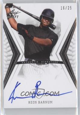 2012 Leaf Ultimate Draft Base Autographs Silver #BA-KB1 - Keon Barnum /25