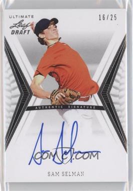 2012 Leaf Ultimate Draft Base Autographs Silver #BA-SS1 - Sam Selman /25