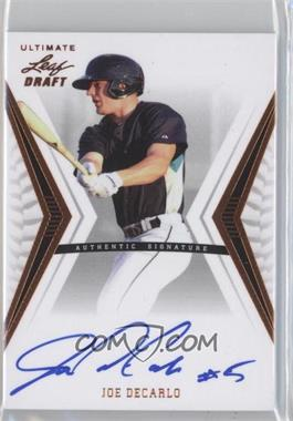 2012 Leaf Ultimate Draft #BA-JDC - Joe DeCarlo