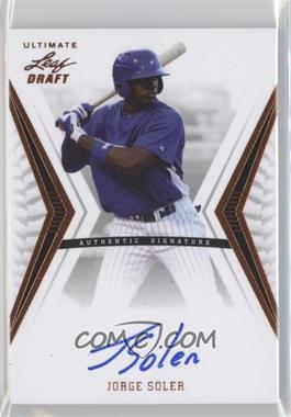 2012 Leaf Ultimate Draft #BA-JS1 - Jorge Soler