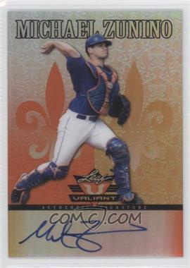 2012 Leaf Valiant - [Base] - Orange #VA-MZ1 - Michael Zunino /99