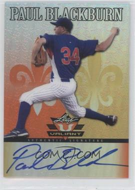 2012 Leaf Valiant - [Base] - Orange #VA-PB1 - Paul Blackburn /99