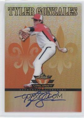 2012 Leaf Valiant Orange #VA-TG1 - Tyler Gonzalez /99