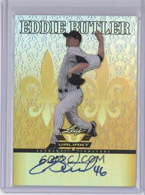 2012 Leaf Valiant Yellow #VA-EB1 - Eddie Butler /10