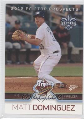 2012 Multi-Ad Sports Pacific Coast League Top Prospects - [Base] #16 - Matt Dominguez