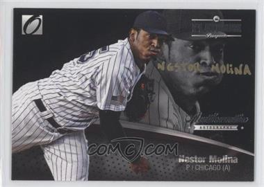 2012 Onyx Platinum Prospects - Autographs - Gold Ink Non-Numbered #PPA9 - Nestor Molina /25