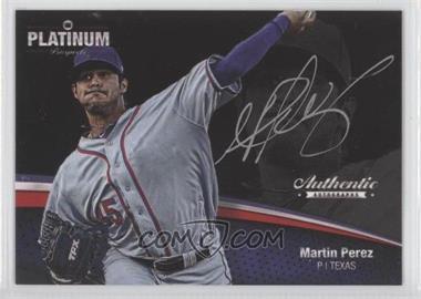2012 Onyx Platinum Prospects - Autographs - Silver Ink #PPA35 - Martin Perez /120
