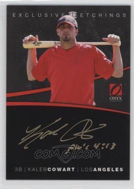 2012 Onyx Platinum Prospects - Exclusive Etchings #EE9 - Kaleb Cowart /40