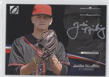 2012 Onyx Platinum Prospects Autographs Silver Ink #PPA11 - Justin Nicolino /135