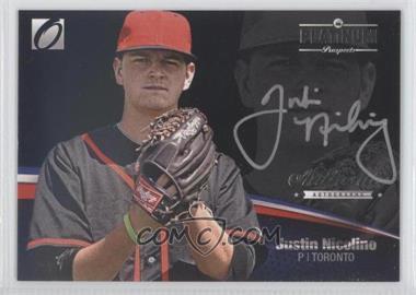 2012 Onyx Platinum Prospects Autographs Silver Ink #PPA11 - Justin Nicolino /135