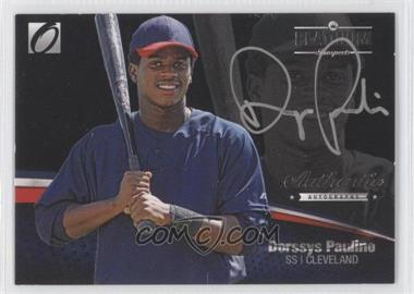 2012 Onyx Platinum Prospects Autographs Silver Ink #PPA12 - Dorssys Paulino /90