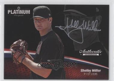 2012 Onyx Platinum Prospects Autographs Silver Ink #PPA29 - Shelby Miller