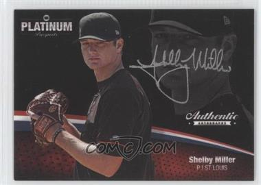 2012 Onyx Platinum Prospects Autographs Silver Ink #PPA29 - Shelby Miller /120