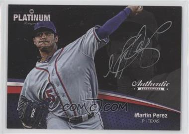 2012 Onyx Platinum Prospects Autographs Silver Ink #PPA35 - Martin Perez /120