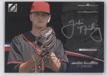2012 Onyx Platinum Prospects Autographs Silver #PPA11 - Justin Nicolino /135