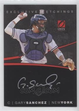 2012 Onyx Platinum Prospects Exclusive Etchings Gold Ink #EE4 - Gary Sanchez /100