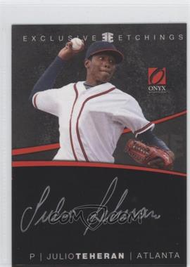 2012 Onyx Platinum Prospects Exclusive Etchings Gold Ink #EE7 - Julio Teheran /125